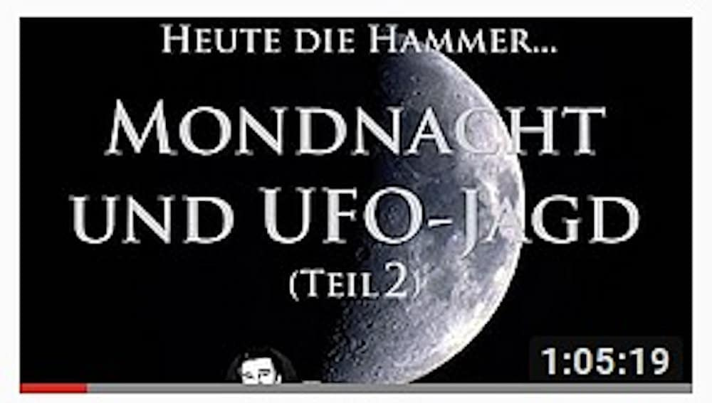 Video: Mondnacht vom 27. April 2018 – UFO-Jagd